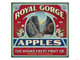 Canon City, Colorado - Royal Gorge Apple Label Láminas por  Lantern Press