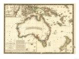 Australia - Panoramic Map Posters por  Lantern Press