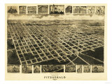 Fitzgerald, Georgia - Panoramic Map Posters av  Lantern Press