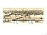 Duluth, Minnesota - Panoramic Map Posters av  Lantern Press