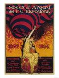 Barcelona, Spain - Soccer Promo Poster Arte di  Lantern Press