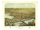 Hastings, Minnesota - Panoramic Map Premium Giclee-trykk av  Lantern Press
