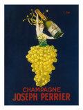 France - Joseph Perrier Champagne Promotional Poster Premium Giclee-trykk av  Lantern Press