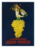France - Joseph Perrier Champagne Promotional Poster Kunstdruck von  Lantern Press