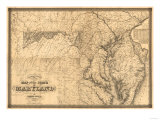 Maryland - Panoramic Map Premium Giclee-trykk av  Lantern Press