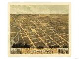 Owatonna, Minnesota - Panoramic Map Premium Giclee-trykk av  Lantern Press