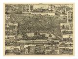 Reading, Pennsylvania - Panoramic Map Plakater av  Lantern Press