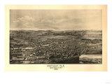 Presque Isle, Maine - Panoramic Map Plakater av  Lantern Press