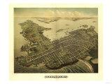 Newport, Rhode Island - Panoramic Map Plakater av  Lantern Press