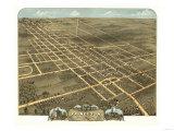Princeton, Illinois - Panoramic Map Plakat av  Lantern Press