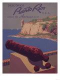 Puerto Rico, USA - Travel Promotional Poster Poster av  Lantern Press