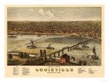 Louisville, Kentucky - Panoramic Map Plakater av  Lantern Press