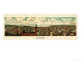 Milwaukee, Wisconsin - Panoramic Map Plakater av  Lantern Press