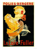 Paris, France - Loie Fuller at the Folies-Bergere Theatre Promo Poster Kunst von  Lantern Press