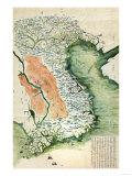 Vietnam - Panoramic Map Kunstdruck von  Lantern Press