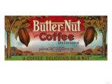 Butter Nut Coffee Label - Omaha, NE Poster tekijänä  Lantern Press