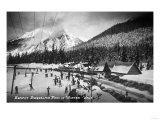 Snoqualmie Pass, Washington - View of the Ski Summit Lámina por  Lantern Press