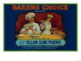Bakers Choice Peach Label - San Francisco, CA Julisteet tekijänä  Lantern Press