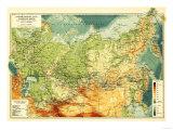 Russia - Panoramic Map Prints by  Lantern Press