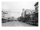 Bellingham, WA Main Street Scene Downtown Photograph - Bellingham, WA Print by  Lantern Press