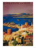 Syria - French Travel Poster, Touring in Syria Kunst von  Lantern Press