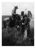 Cowboy Trading with Indians Using Sign Language - Tucumcari, NM Prints by  Lantern Press
