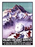 Villars, Switzerland - Naughty Gnomes Making Giant Snowball Poster Julisteet tekijänä  Lantern Press