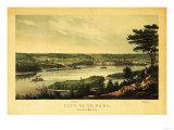 Saint Paul, Minnesota - Panoramic Map Premium Giclee-trykk av  Lantern Press