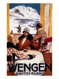 Wengen, Switzerland - The Downhill Club Promotional Poster Julisteet tekijänä  Lantern Press