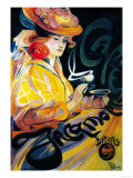 Jacqmotte Cafe Vintage Poster - Europe Láminas por  Lantern Press
