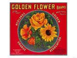 Golden Flower Orange Label - Redlands, CA Láminas por  Lantern Press