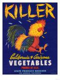 Killer Vegetable Label - Los Angeles  CA