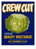 Crew Cut Lettuce Label - El Centro, CA Posters tekijänä  Lantern Press