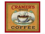 Cramer's Choice Coffee Label Láminas por  Lantern Press