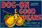 Dog On Good Pears Pear Crate Label - Suisun, CA Posters tekijänä  Lantern Press