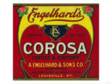 Engelhard's Coffee Label - Louisville, KY Láminas por  Lantern Press