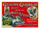 Giuseppe Garibaldi Macaroni Label - Philadelphia, PA Poster von  Lantern Press