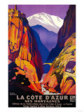 La Cote D'Azur Vintage Poster - Europe Print by  Lantern Press
