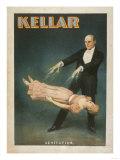 Kellar Levitation Magic Poster No.1 Poster von  Lantern Press