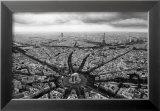 Paris, l'Etoile Vue du Ciel Poster by Guillaume Plisson