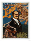 Laurant Magician, Illusionist, Entertainer Magic Poster Prints by  Lantern Press