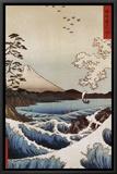 View from Satta Suruga Impressão em tela emoldurada por Ando Hiroshige