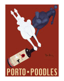 Porto Poodles Reproduction pour collectionneur par Ken Bailey