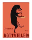 Rottweiler Brand Reproduction pour collectionneur par Ken Bailey