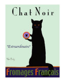 Chat Noir - Black Cat Collectable Print by Ken Bailey