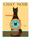 Chat Noir II - Black Cat Collectable Print by Ken Bailey