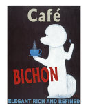 Bichon Cafe Collectable Print by Ken Bailey