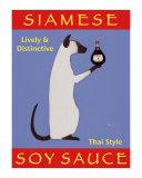 Siamese Soy Sauce Reproduction pour collectionneur par Ken Bailey
