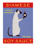 Siamese Soy Sauce Collectable Print by Ken Bailey