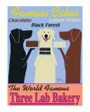 La boulangerie des trois labradors Reproduction pour collectionneur par Ken Bailey